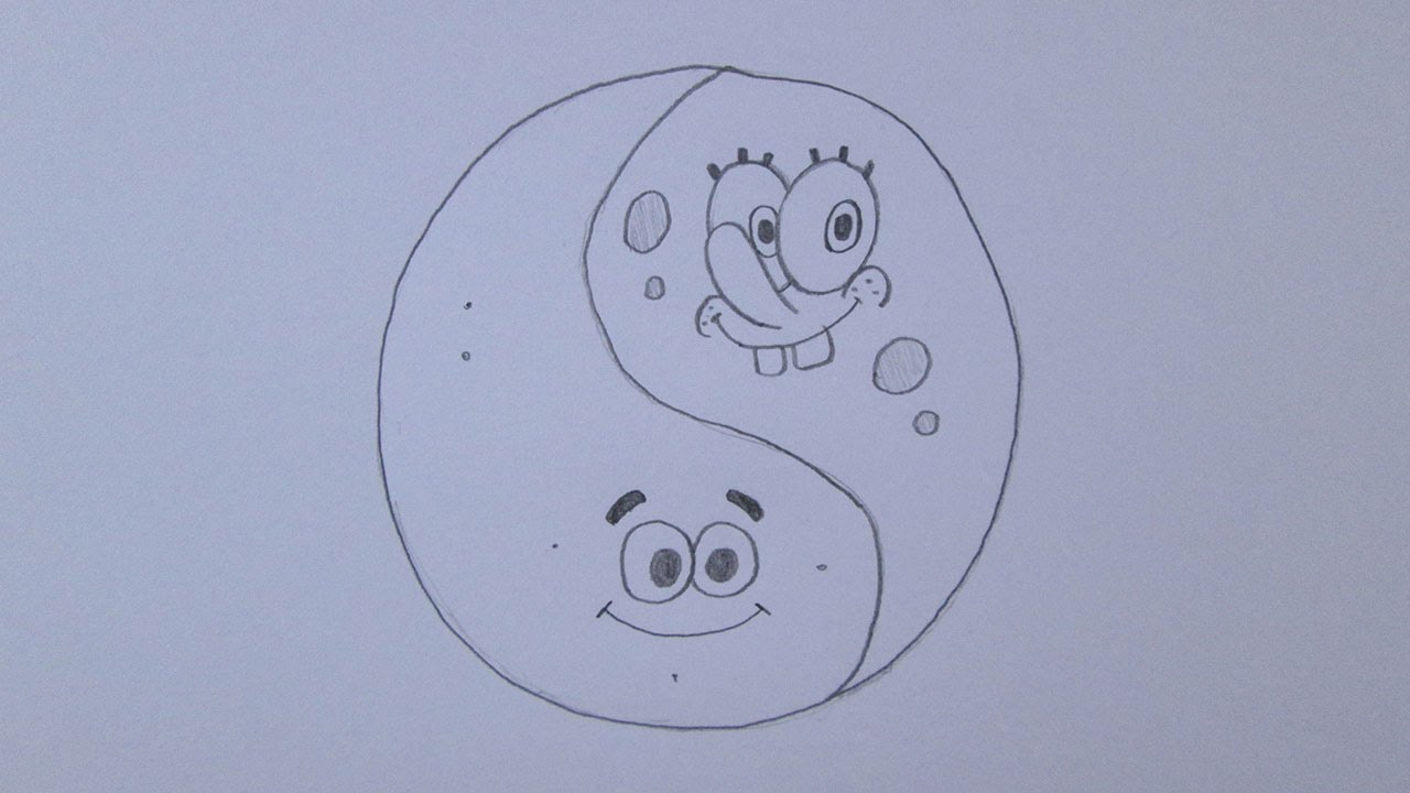 How To Draw Yin And Yang (spongebob And Patrick Star Version