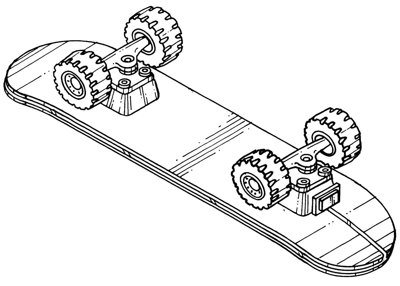desenhos de skate para imprimir