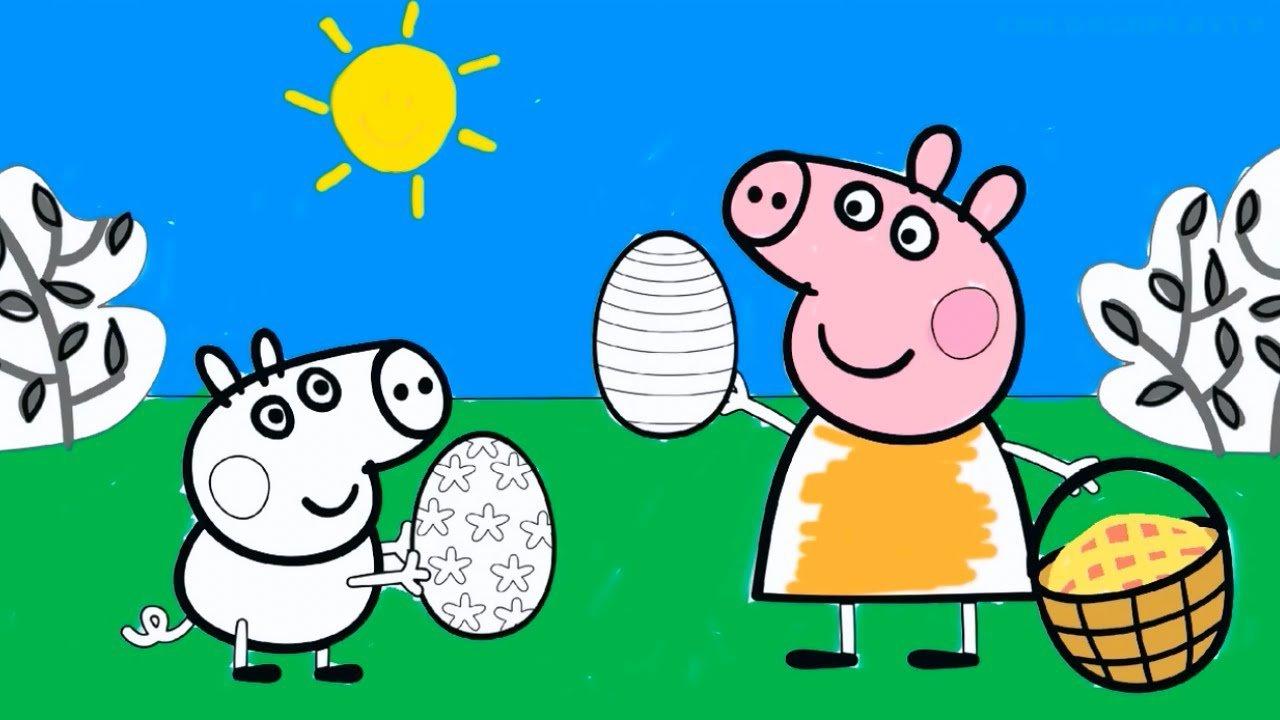 Jogos Para Colorir Peppa Pig George E Familia Pig Desenhos
