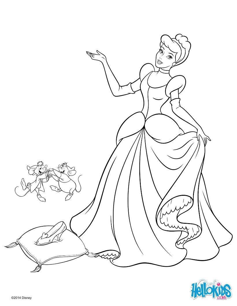 Livro Com Desenhos Da Cinderela Para Colorir