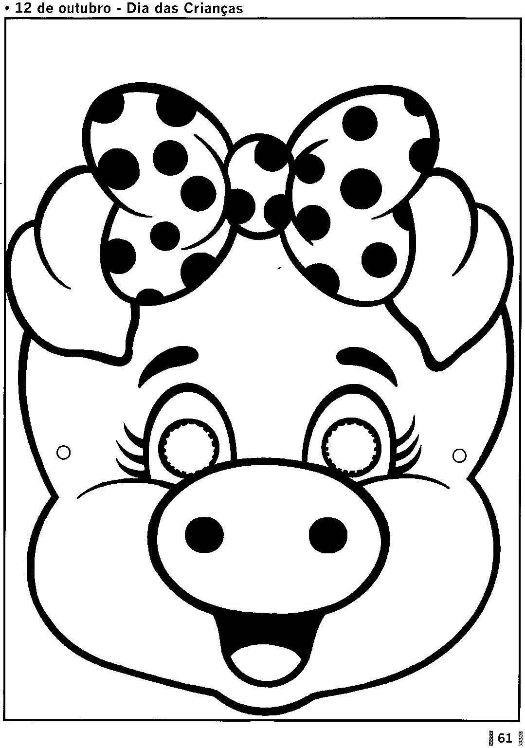 Máscara De Porquinho E Porquinha!