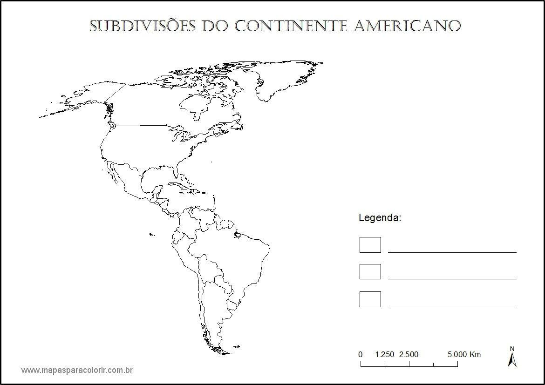 Mapas De Continentes Para Colorir