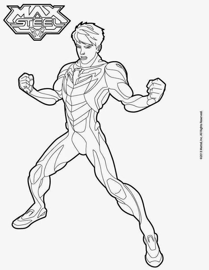 max steel printable coloring pages | Max Steel Desenhos