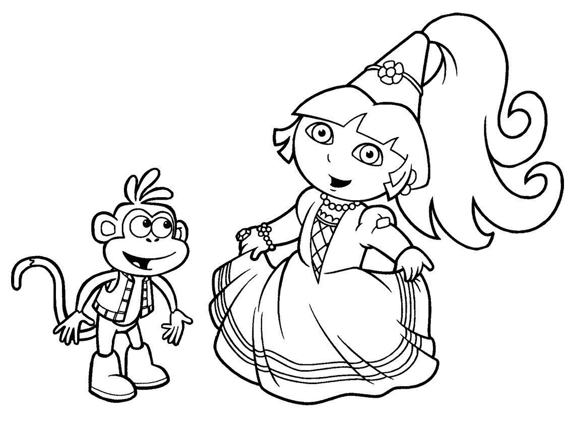 Desenho Para Pintar Da Dora