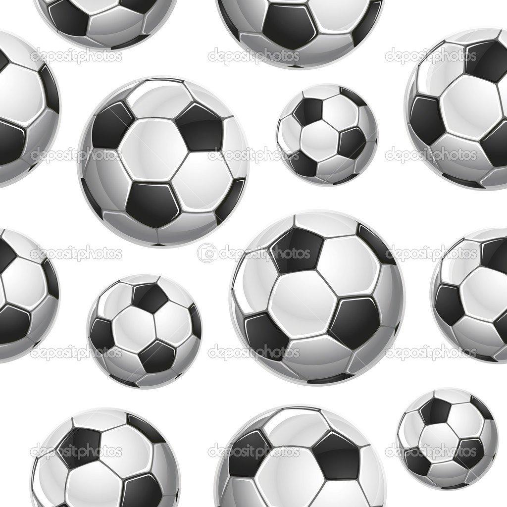 Padrão Sem Emenda De Bolas De Futebol  Ilustração Vetorial — Vetor