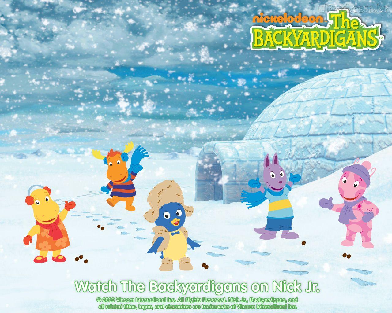 Papel De Parede Os Backyardigans Na Neve