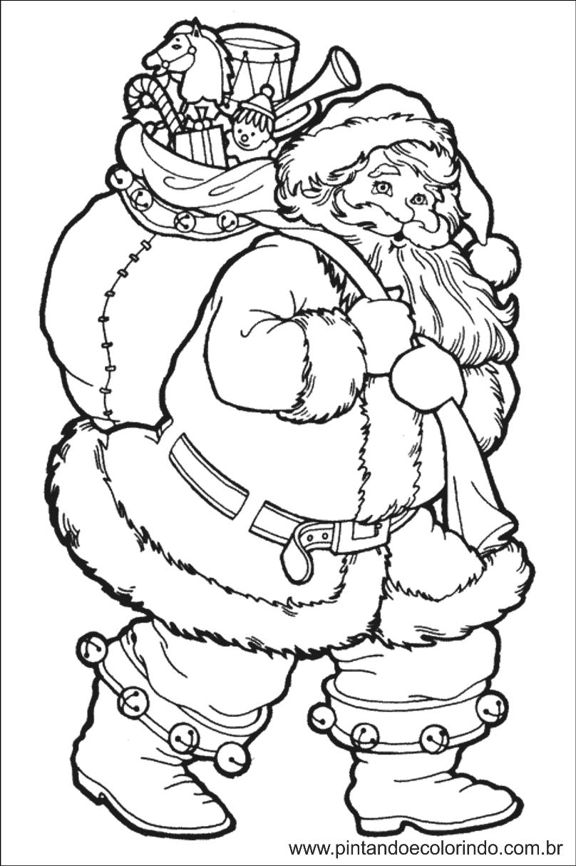 Pintando E Colorindo Colorir Papai Noel Desenhos De Natal Free