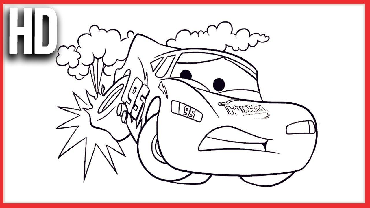 Pintando Relâmpago Mcqueen Disney Carros 2