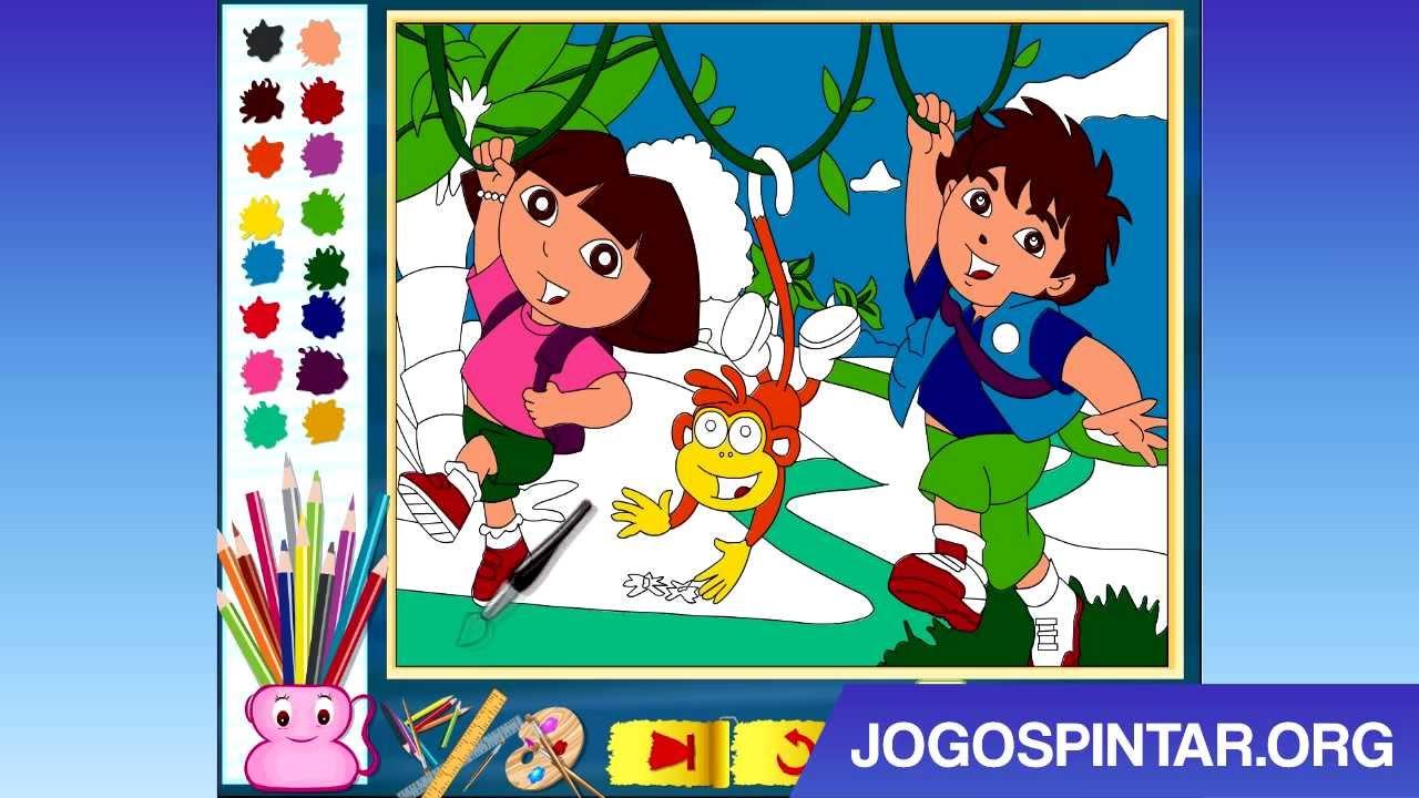 Pintar Dora E Diego Na Selva