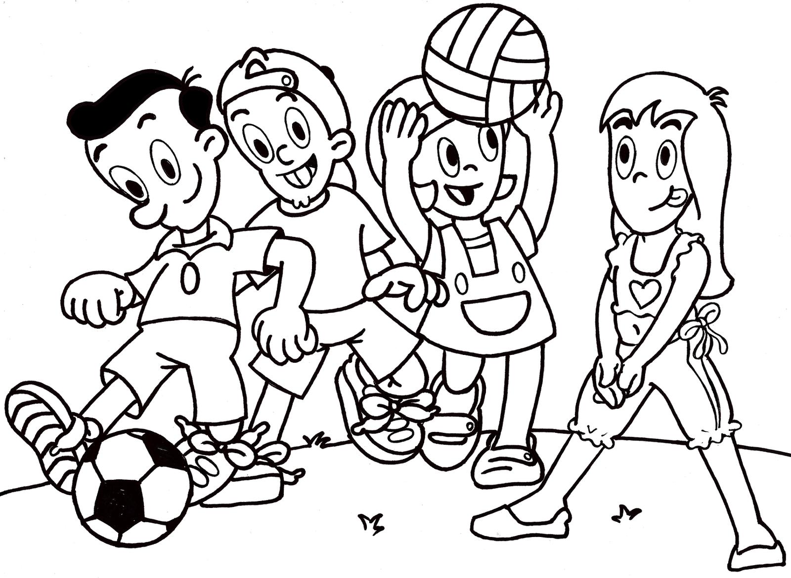 Portal Do Desenho, Mica E Amigos  Crianças Brincando