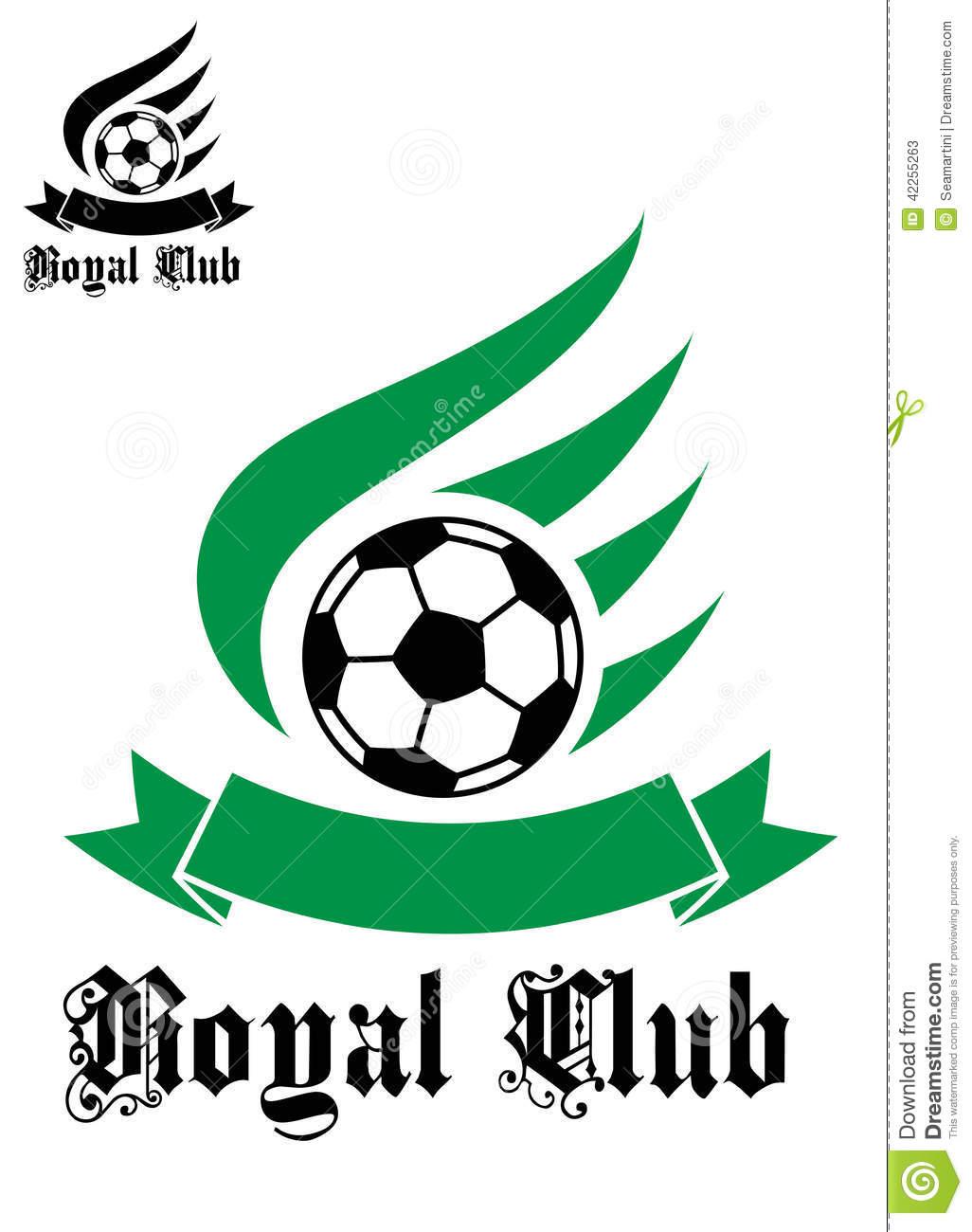 Símbolo Do Futebol Ou Do Futebol Com Verde E Preto Ilustração Do