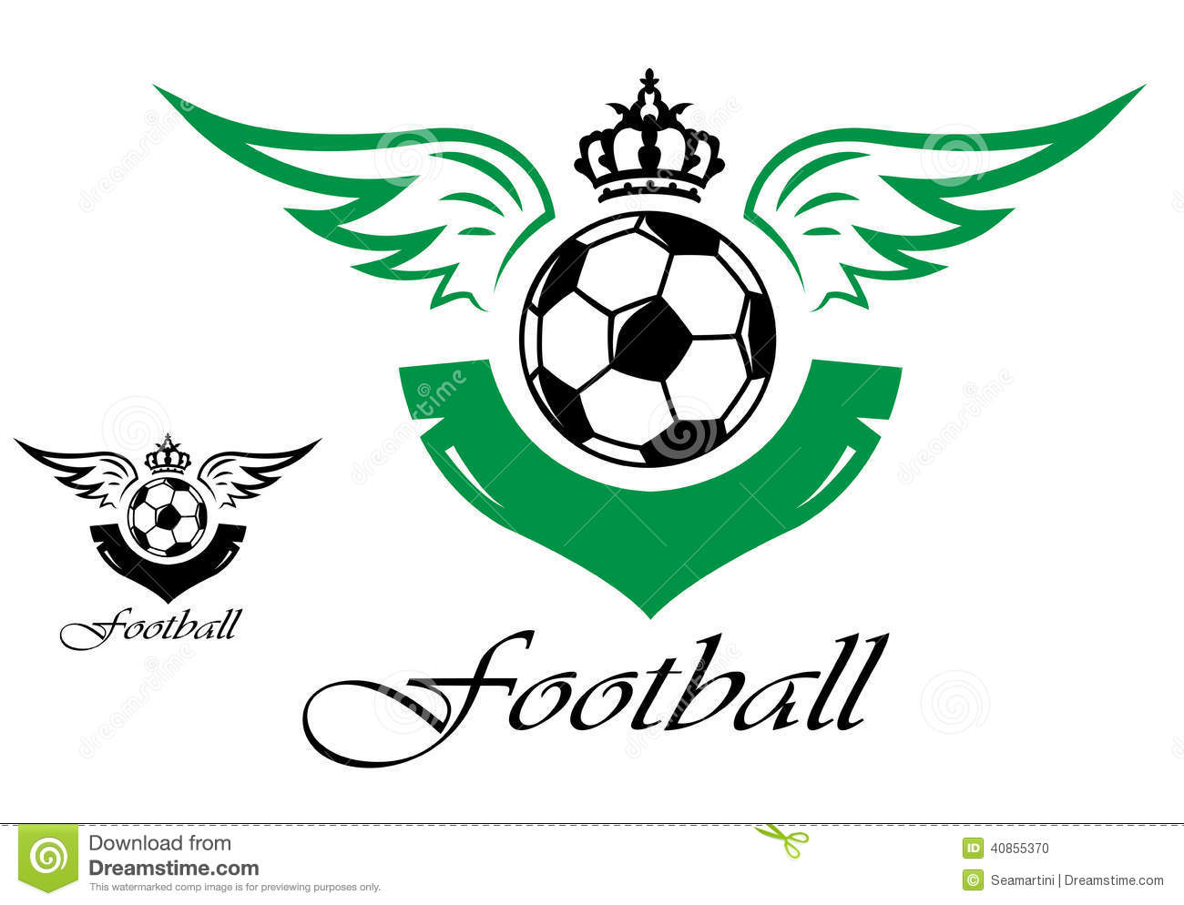 Símbolo Do Futebol Ou Do Futebol Ilustração Do Vetor