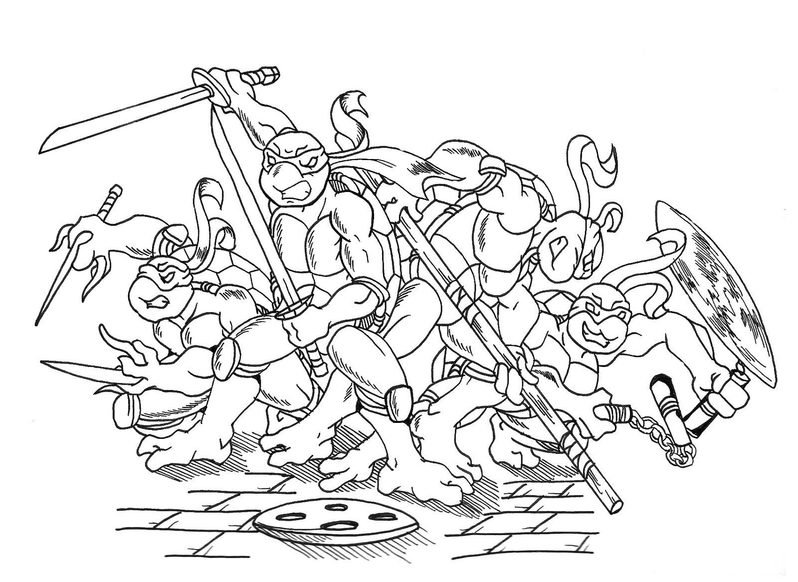 Tartarugas Ninjas Para Colorir