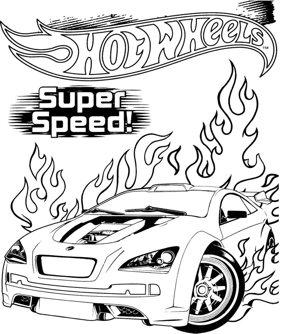 Team Hot Wheels Coloring Pages  4