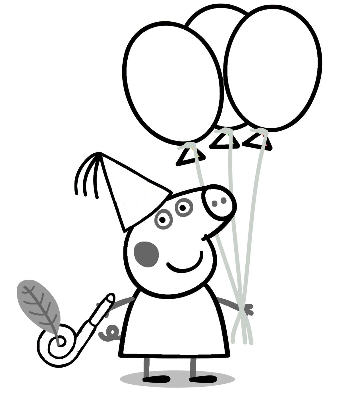 Desenhos Para Colorir De Peppa Pig