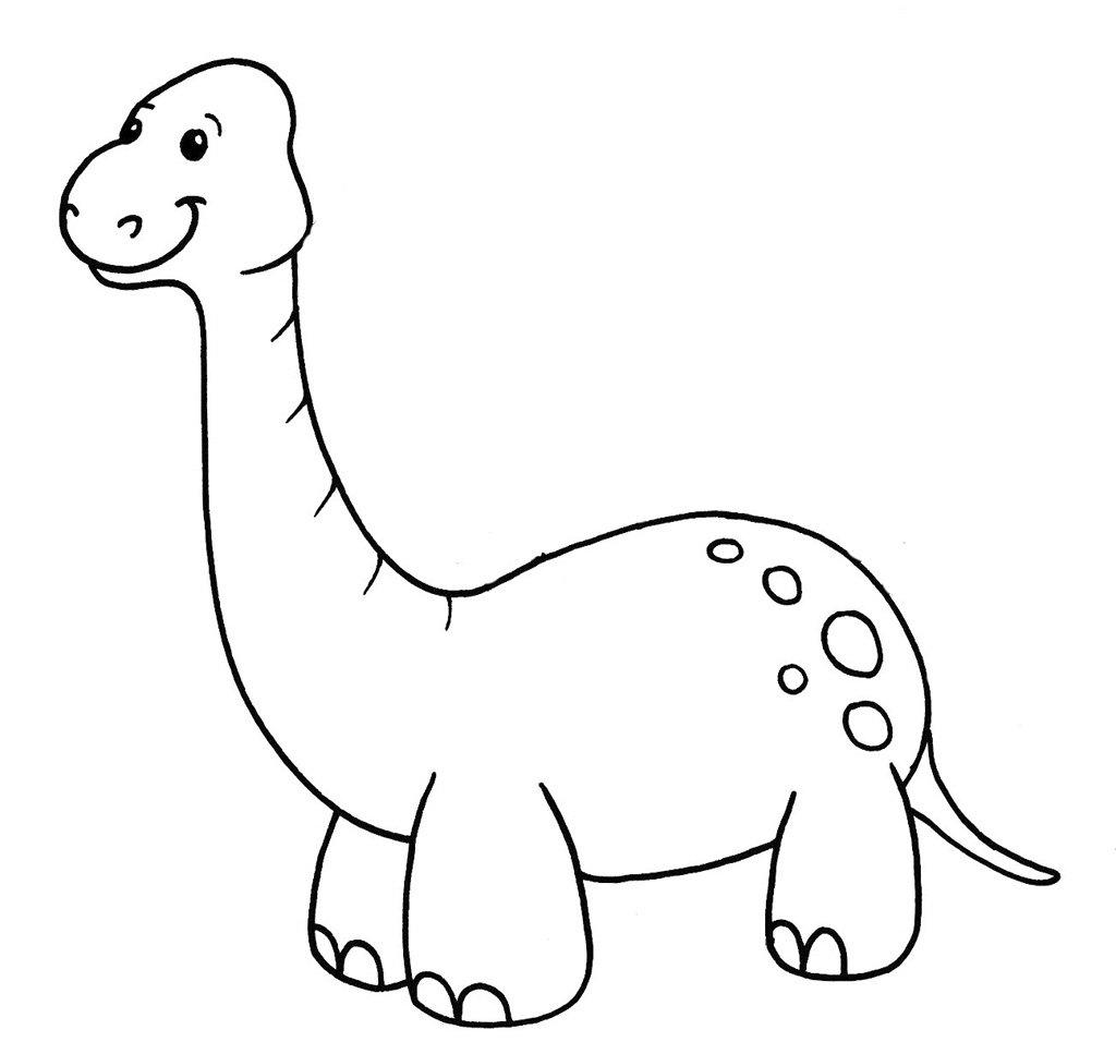 40 Desenhos De Dinossauros Para Colorir, Pintar, Imprimir