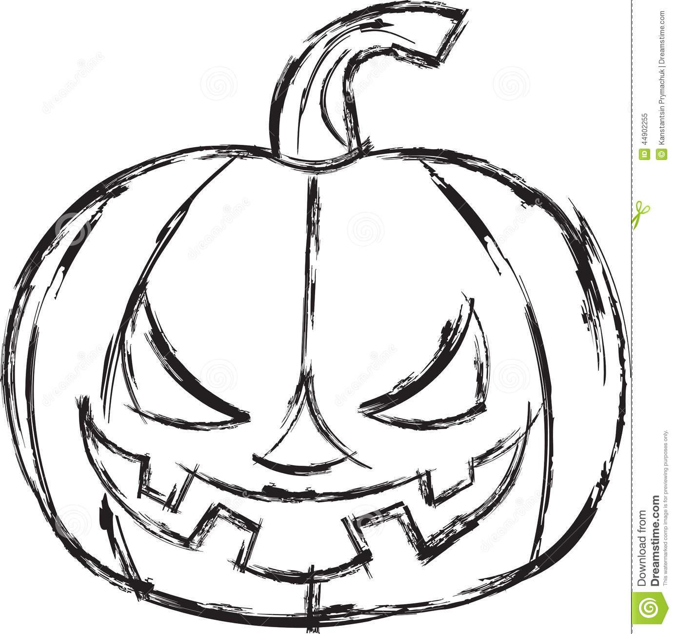 Abóbora Dos Desenhos Animados De Dia Das Bruxas Ilustração Do