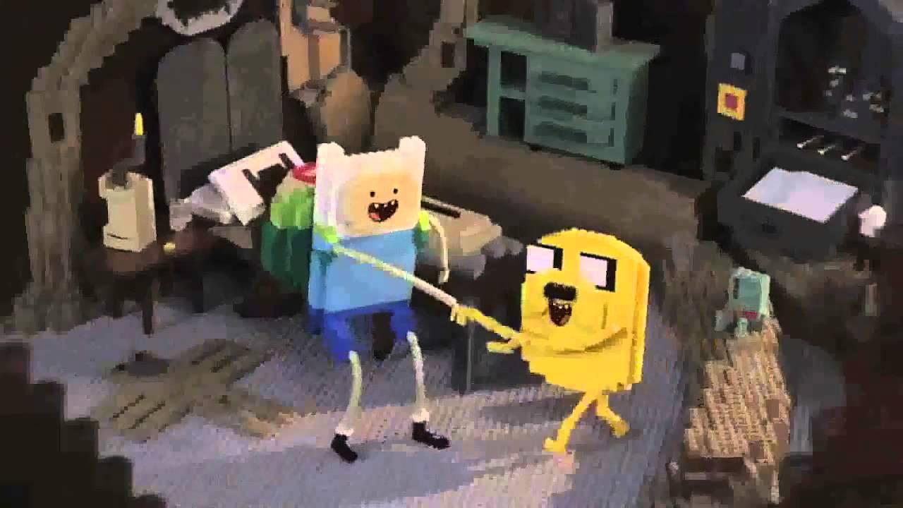 Abertura Do Hora De Aventura Feita De Lego