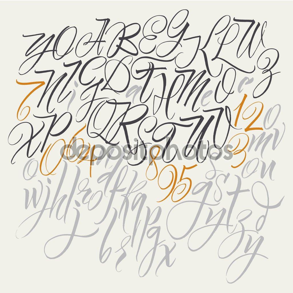 Alfabeto De Vetor  Entregar Cartas Desenhadas  Letras Do Alfabeto