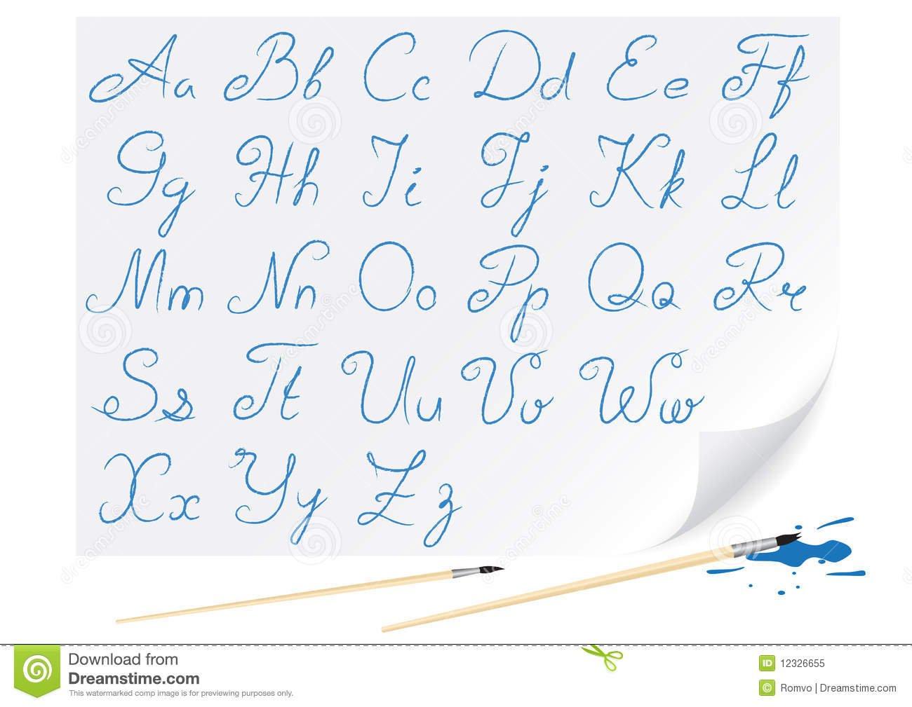 Alfabeto Do Desenho Foto De Stock Royalty Free