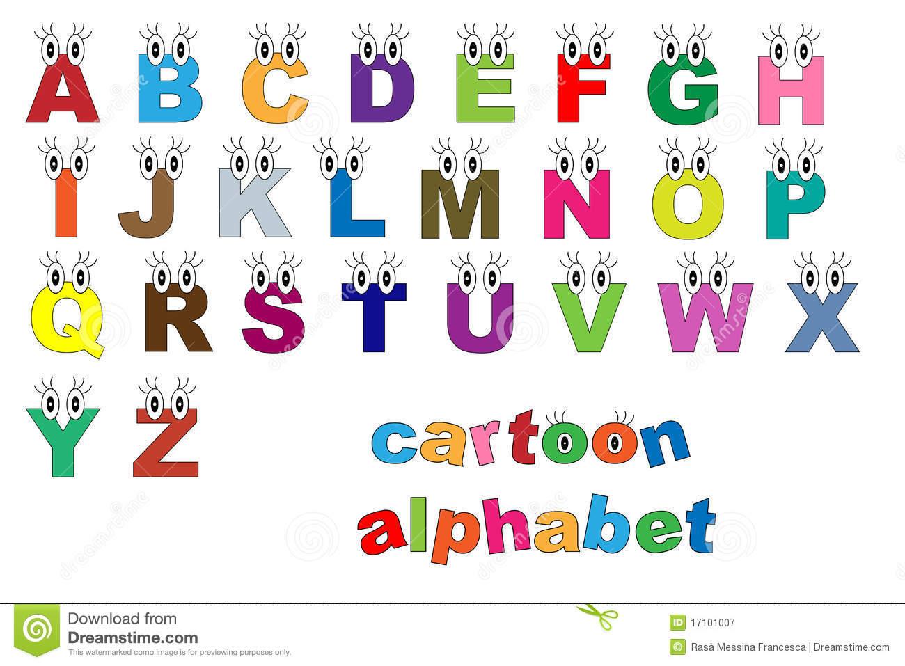 Alfabeto Dos Desenhos Animados Fotografia De Stock Royalty Free