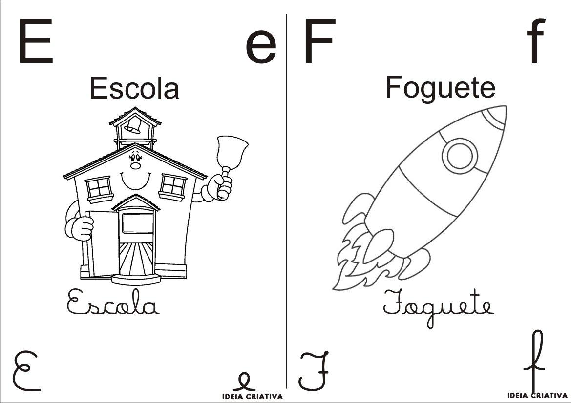 Alfabeto Para Imprimir E Colorir