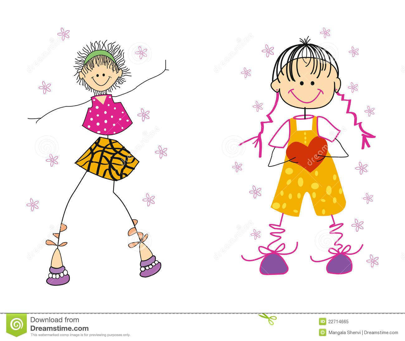 Amigos Dos Desenhos Animados Foto De Stock Royalty Free