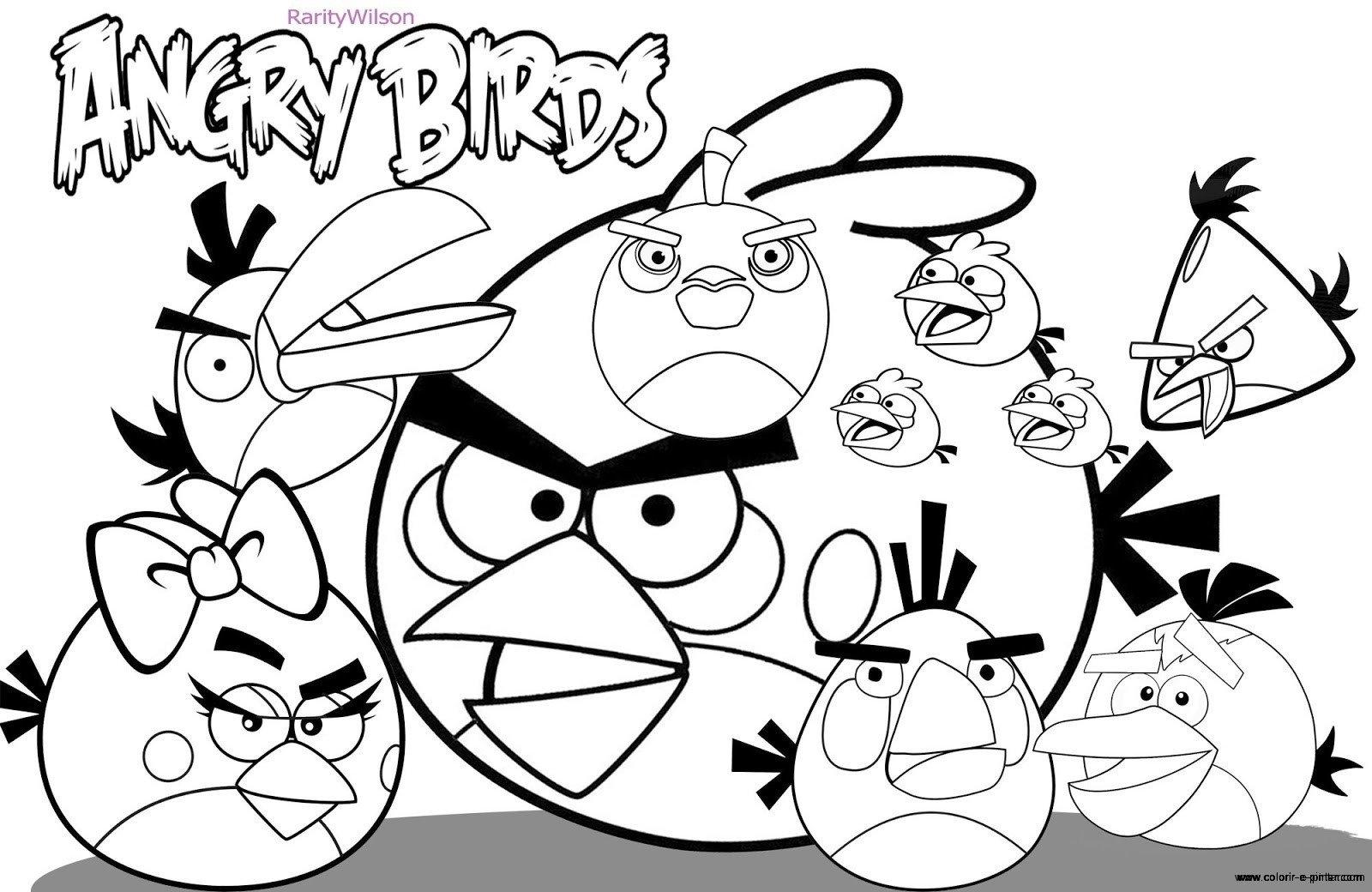 Angry Birds Desenhos Para Colorir E Pintar Sketch Coloring Page
