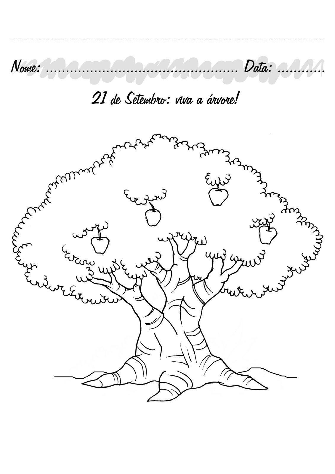 Arvore De Desenho Para Colorir Sketch Coloring Page