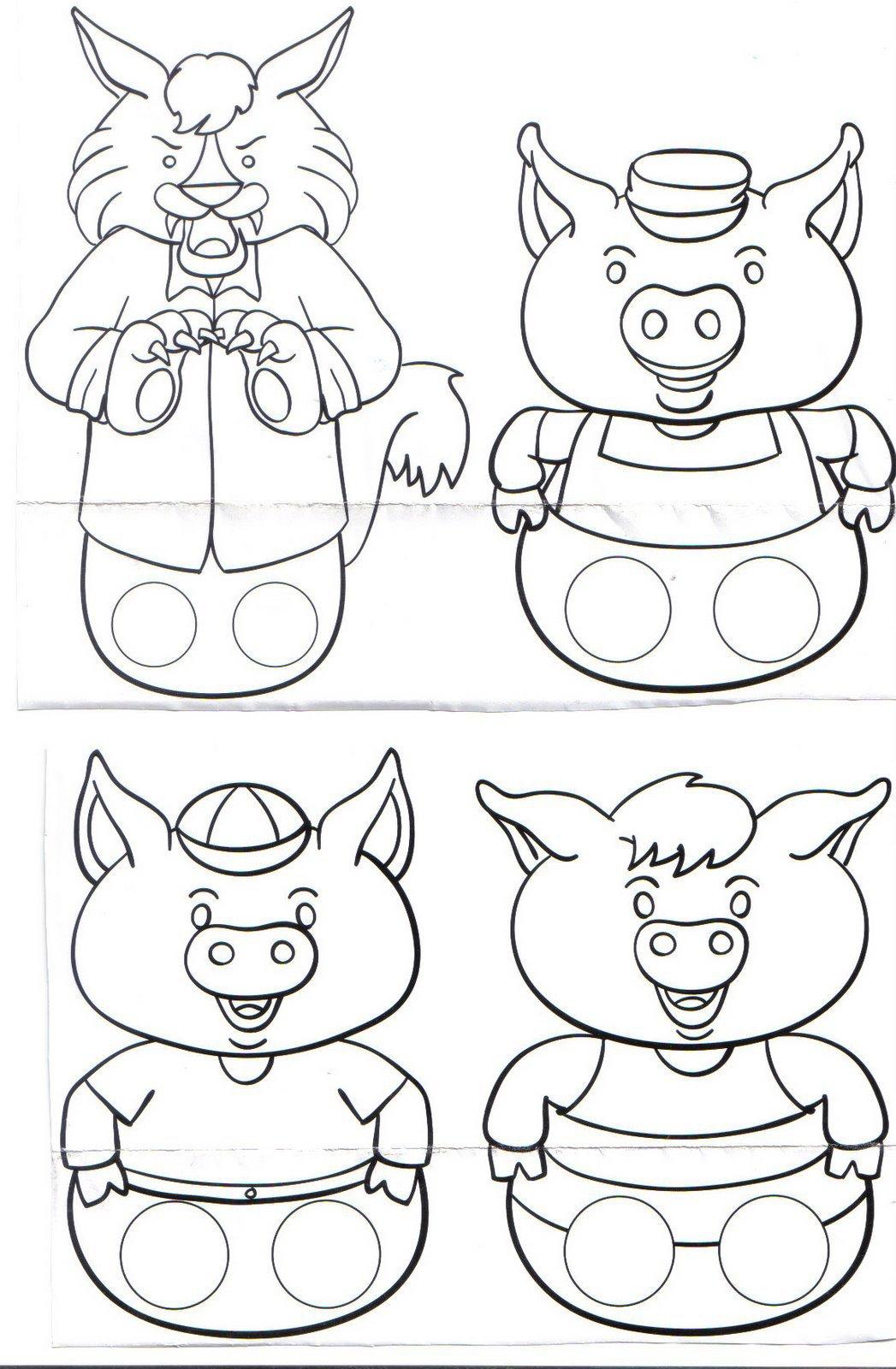 Atividade Infantil  Os TrÊs Porquinhos Atividades Contos De Fadas