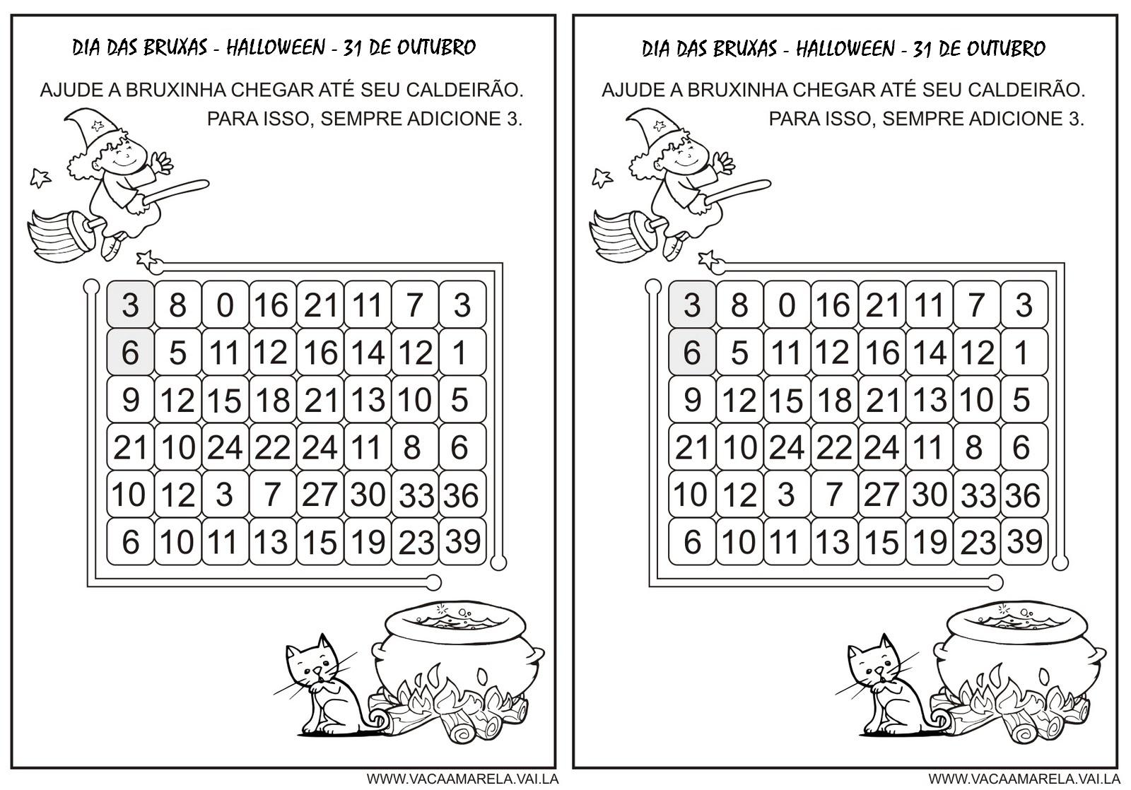Atividades Dia Das Bruxas, Halloween  Exercícios E Desenhos Para