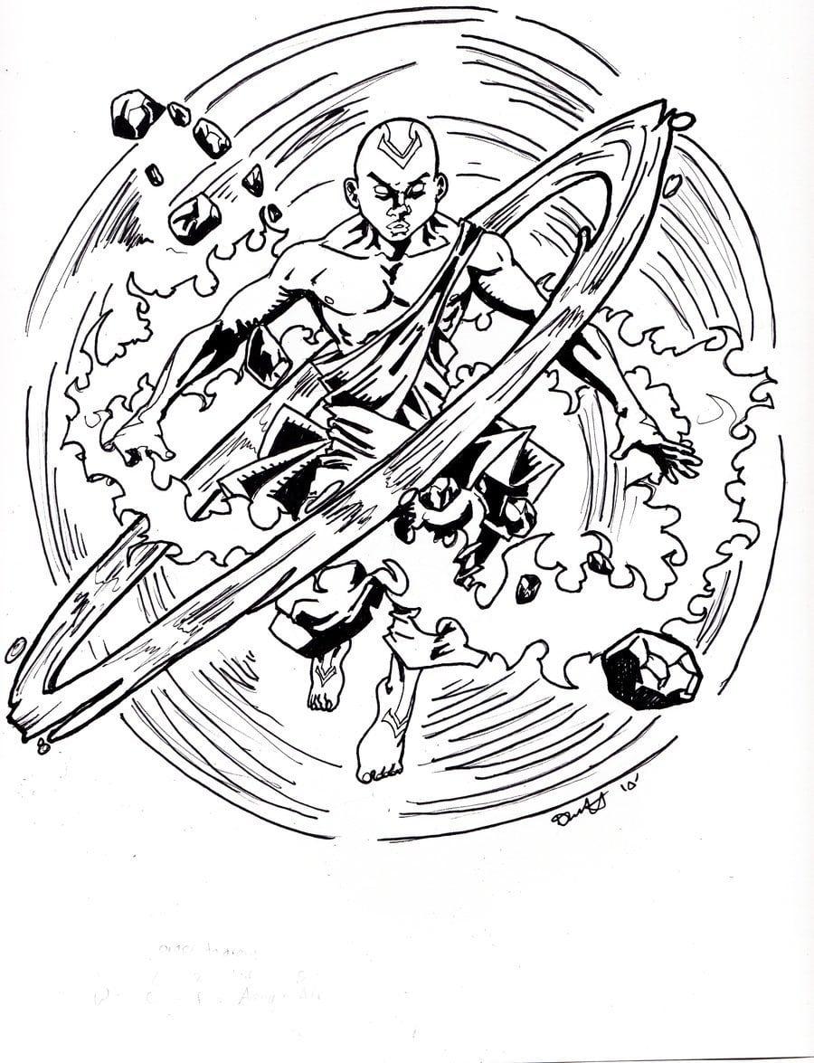 Desenho Avatar A Lenda De Aang