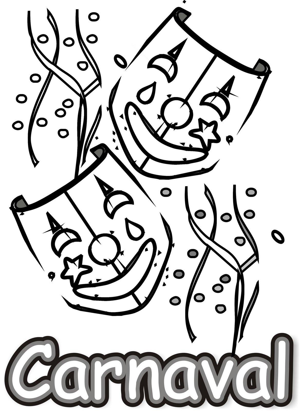 Baú Da Web  10 Desenhos De Carnaval Para Imprimir E Colorir