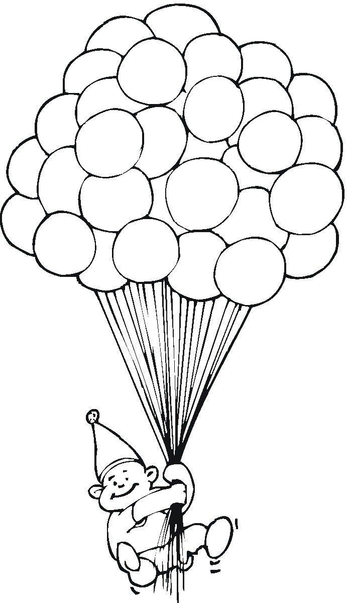 Baú Da Web  Balões Desenhos Para Colorir