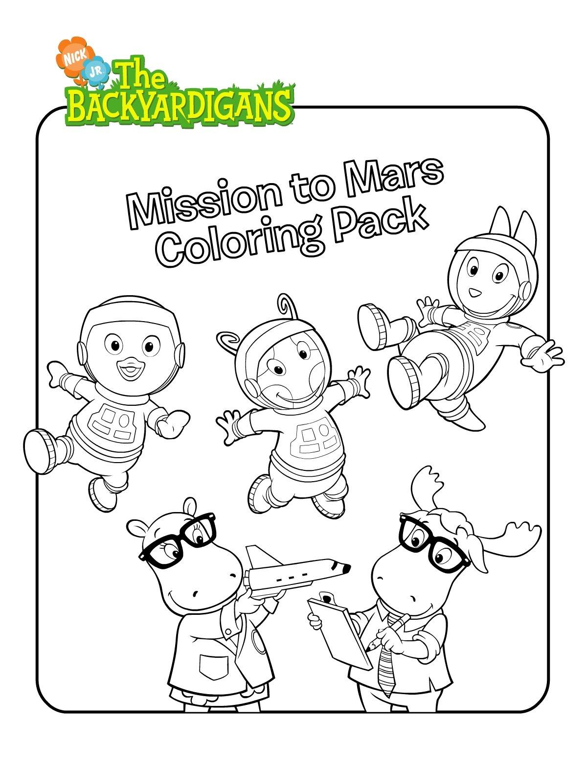 Backyardigans Para Colorir, Jogos De Pintar Os Backyardigans