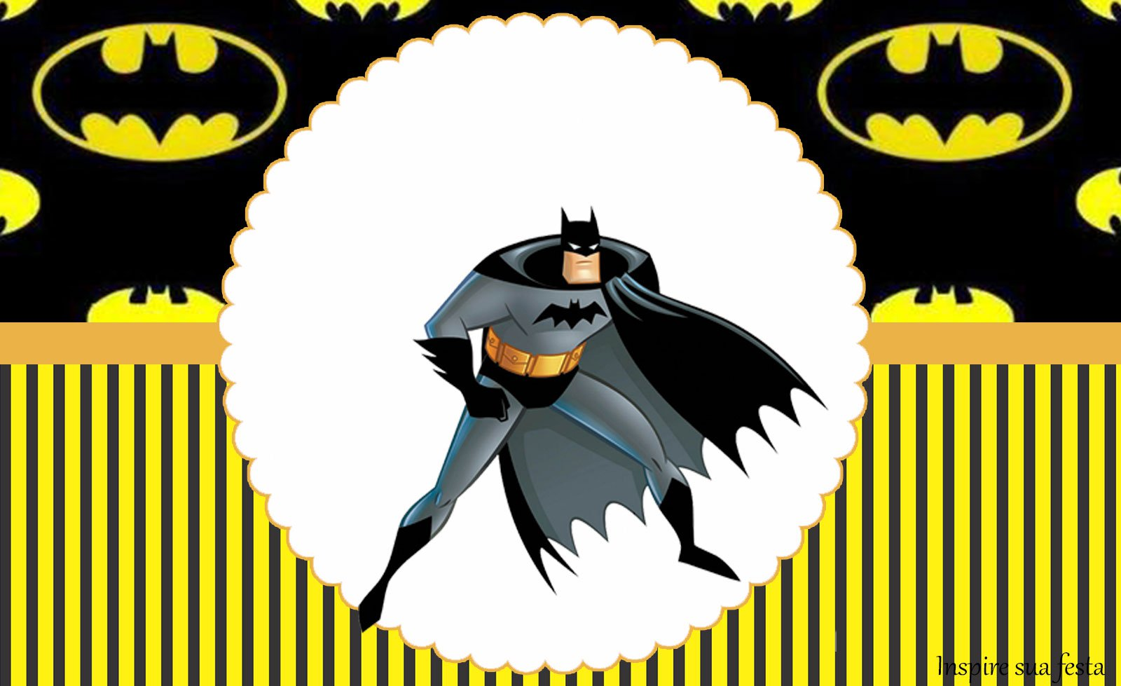 Batman – Kit Festa Grátis Para Imprimir – Blog Inspire Sua Festa