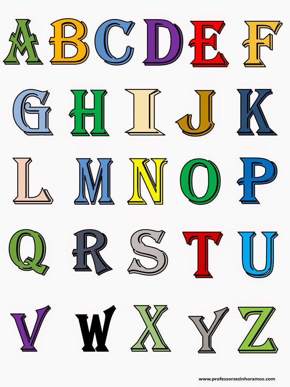 Blog Professor Zezinho   Moldes De Letras Coloridas Para Imprimir I