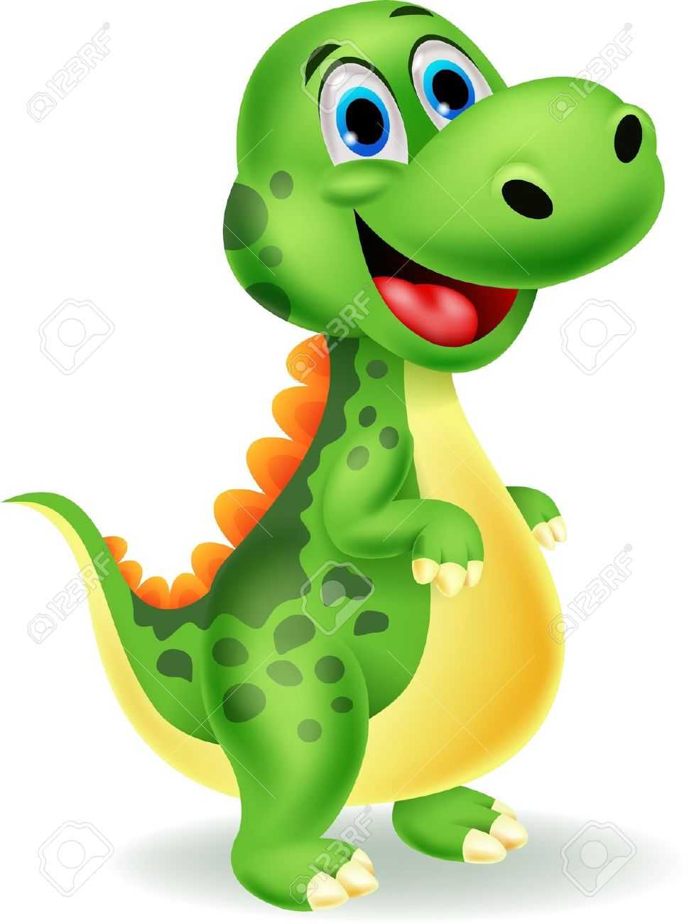 Bonito Dos Desenhos Animados De Dinossauros Royalty Free Cliparts