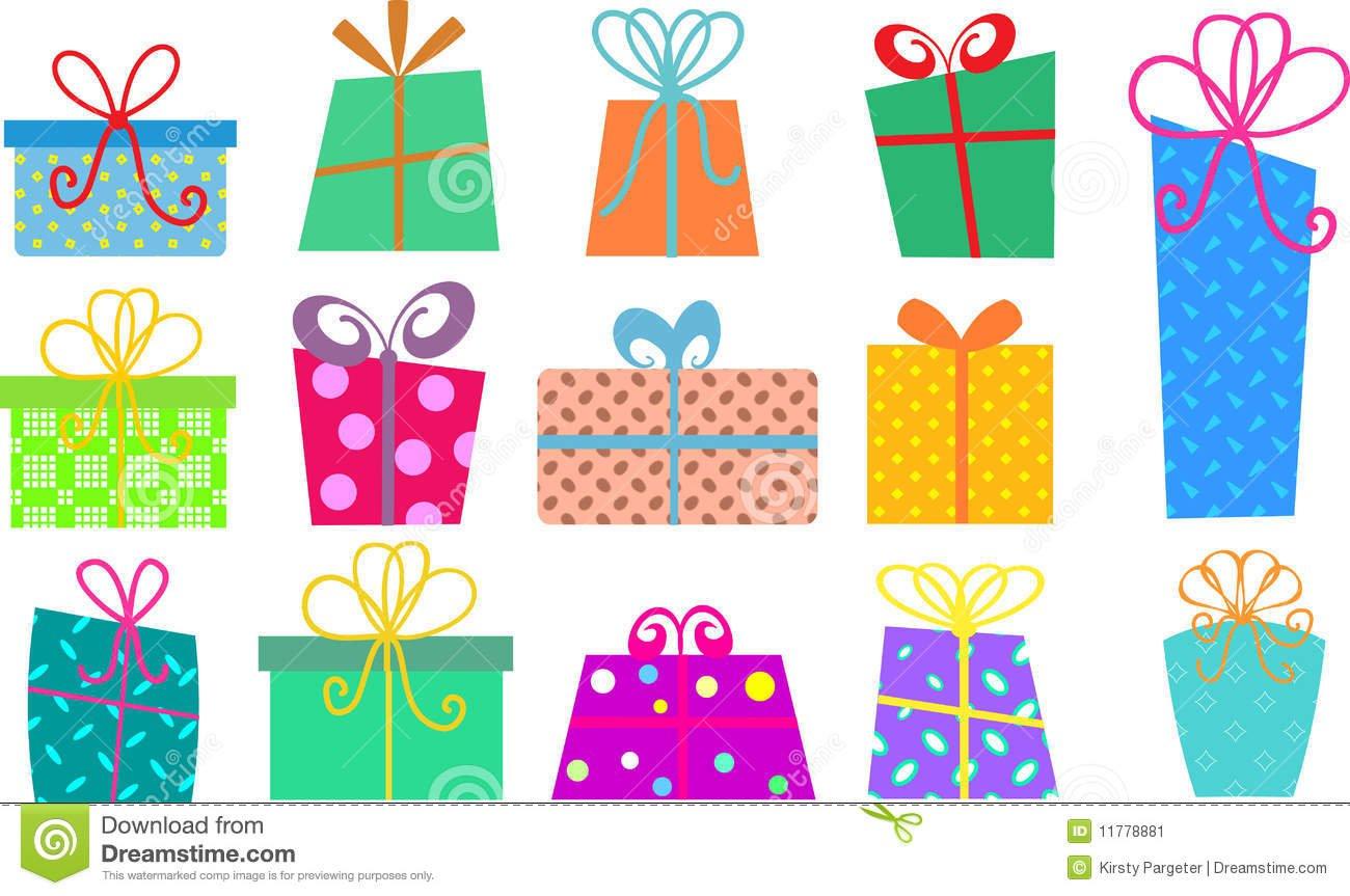 Caixas De Presente Dos Desenhos Animados Imagem De Stock