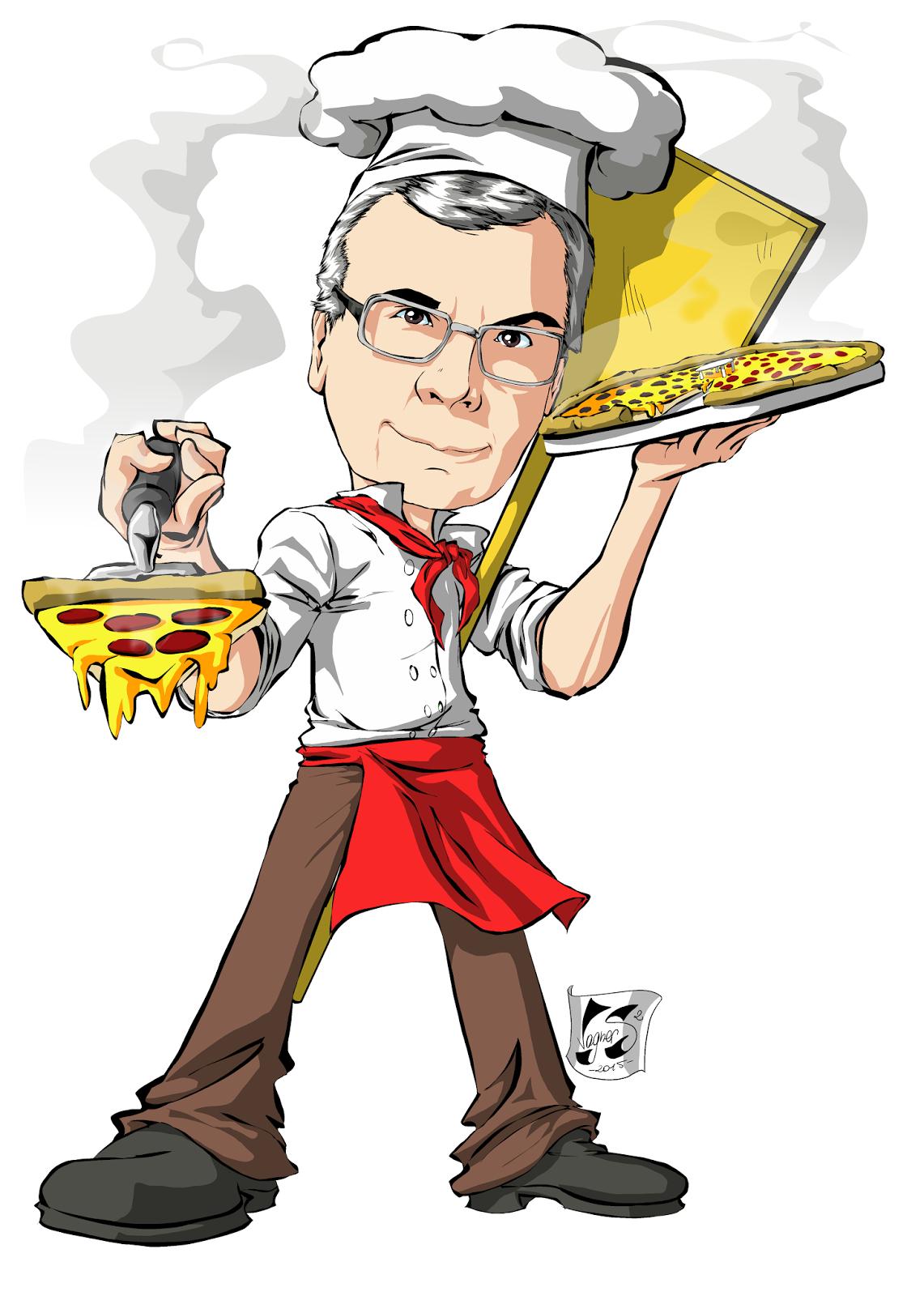 Caricatura De Pizzaiolo