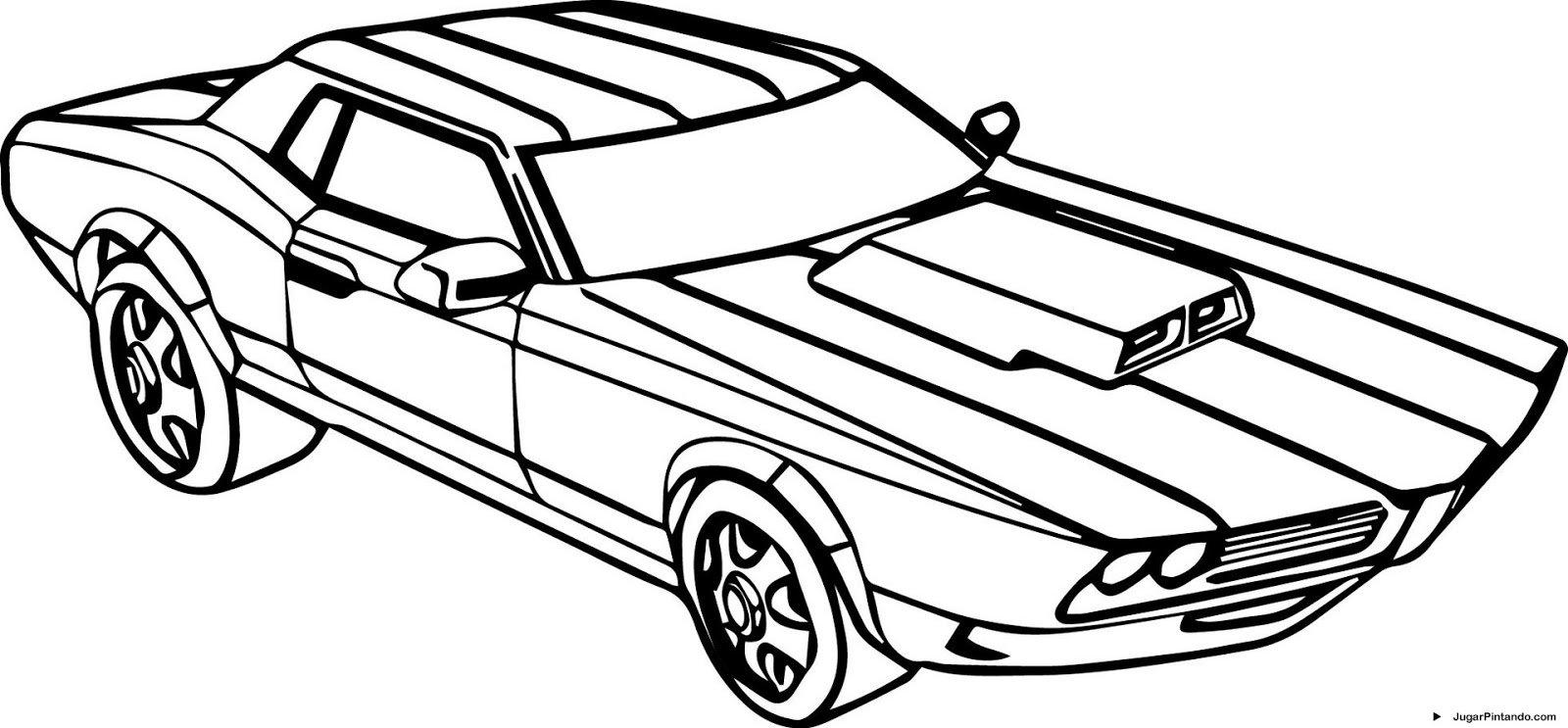Carros Para Imprimir Y Colorear