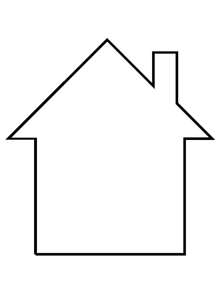 Desenho para colorir casa - Formas de pintar una casa ...