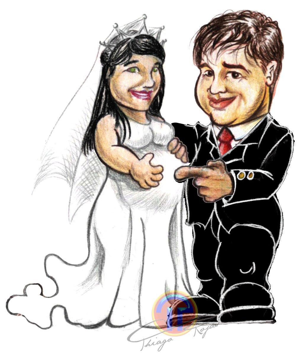 Casamento Em Desenho Animado
