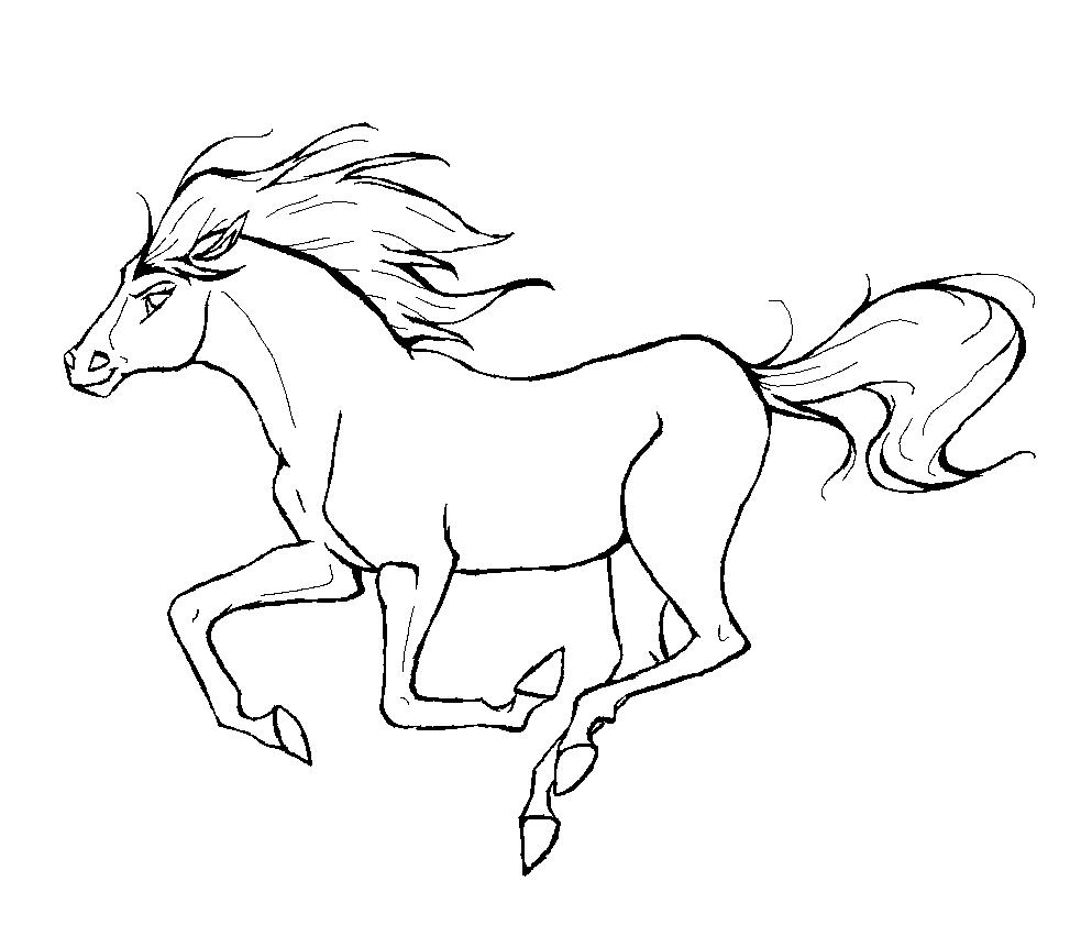 Cavalo Para Colorir