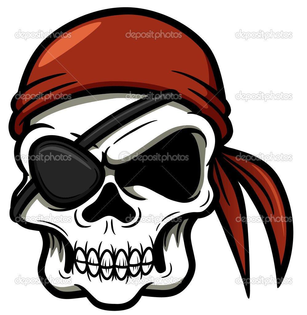 Caveira Pirata — Vetor De Stock © Sararoom  29605627