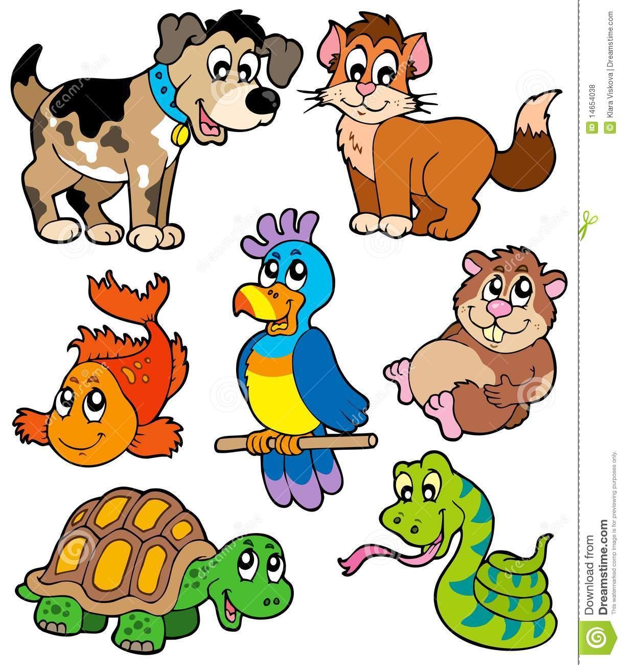Coleção Dos Desenhos Animados Do Animal De Estimação Fotos De