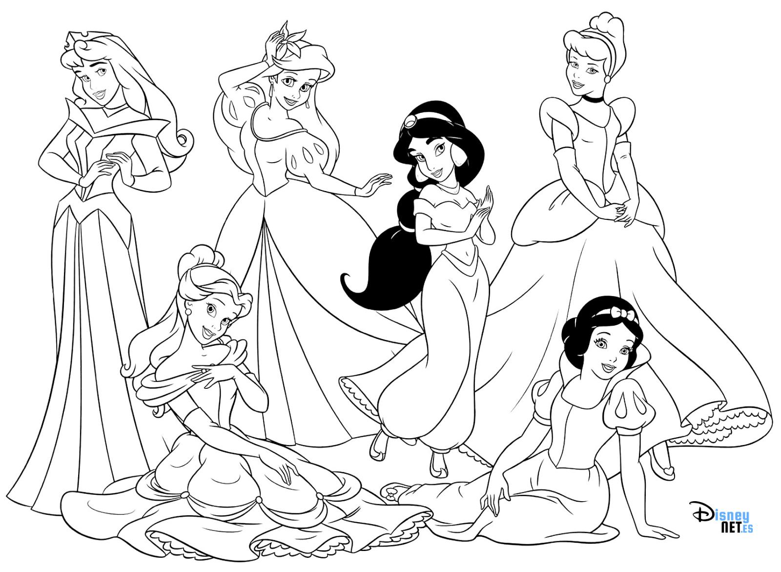 Vistoso Dibujos Para Colorear Disney Princess Ariel Bandera ...