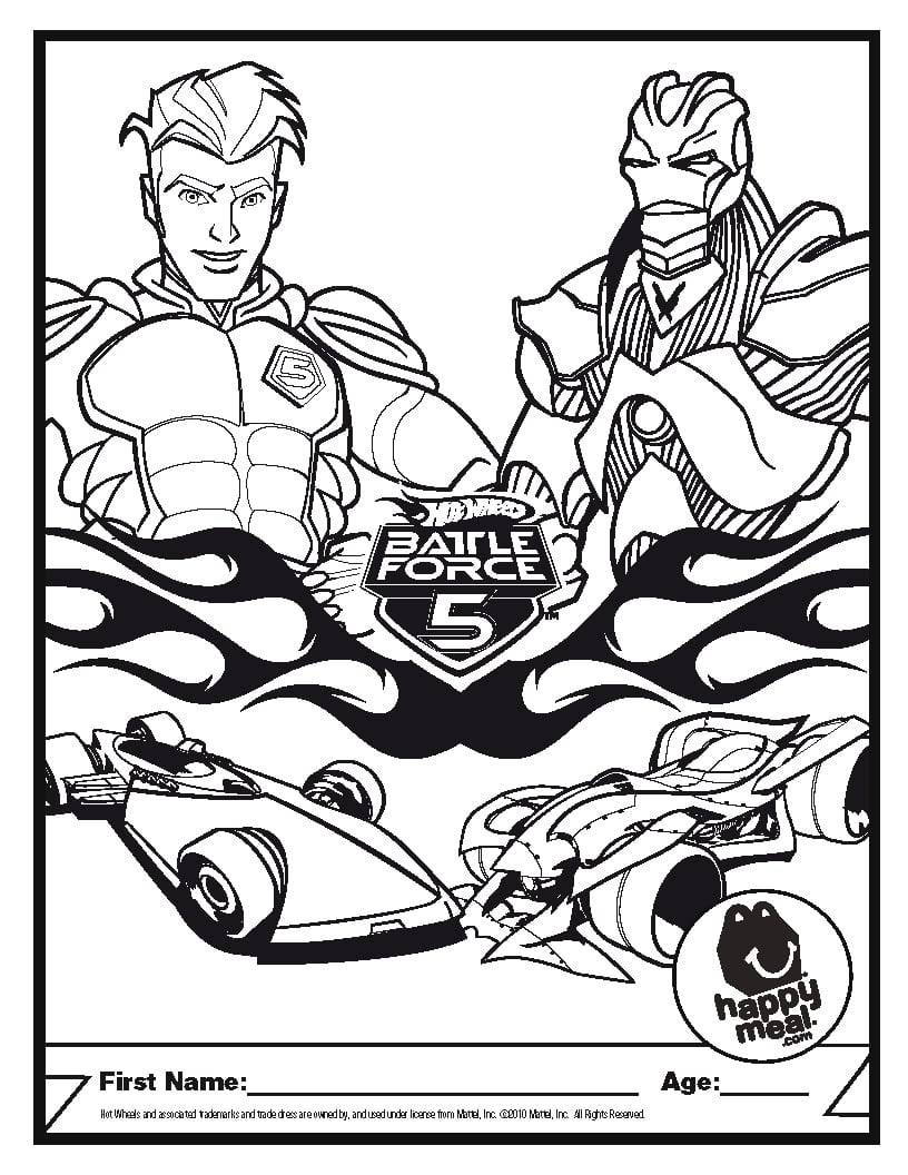 Coloring Pages Of Hot Wheels