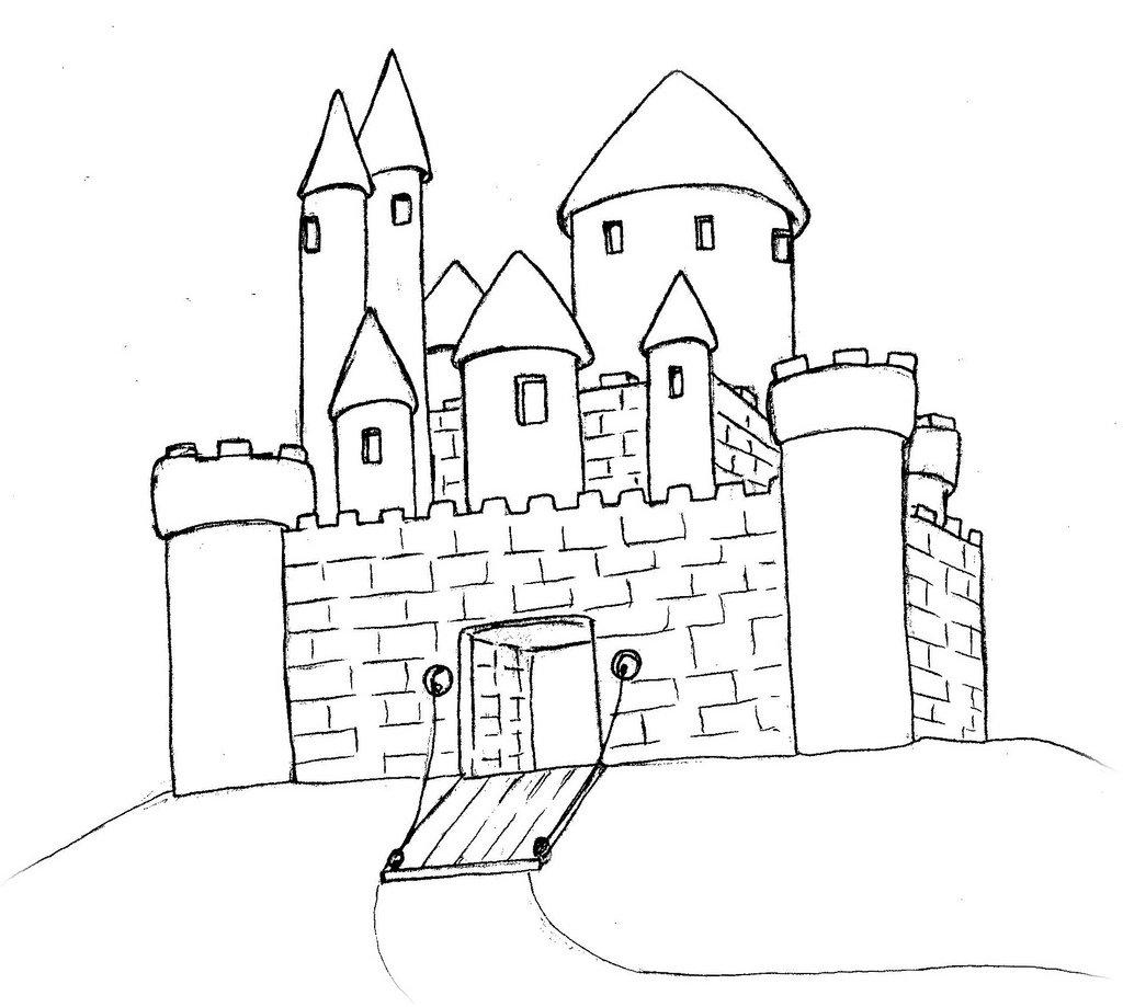 картинки старинного замка нарисовать