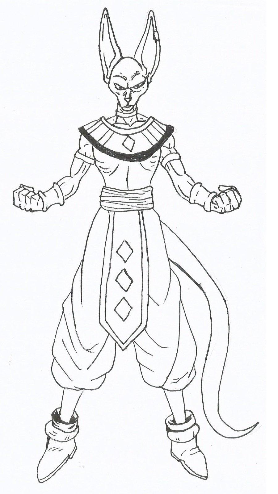 Como Desenhar Bills Dragon Ball Z A Batalha Dos Deuses